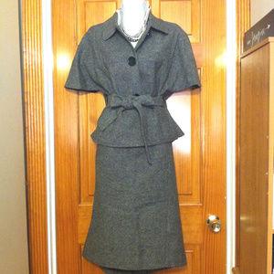 Michael Kors Tweed Wool Jacket with Pencil Skirt